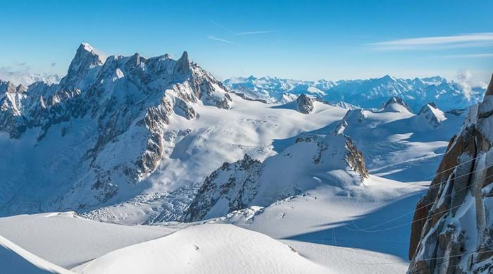The stunning French Alps are enjoyed by skiers and snowboarders alike