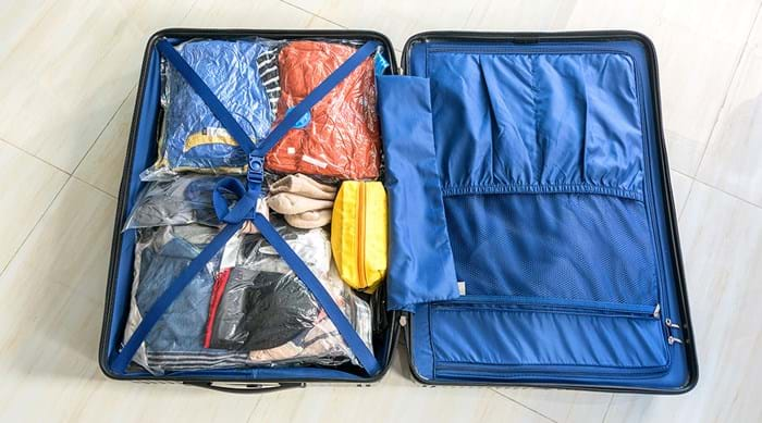 Carefully planning before you pack saves space and unwanted items.