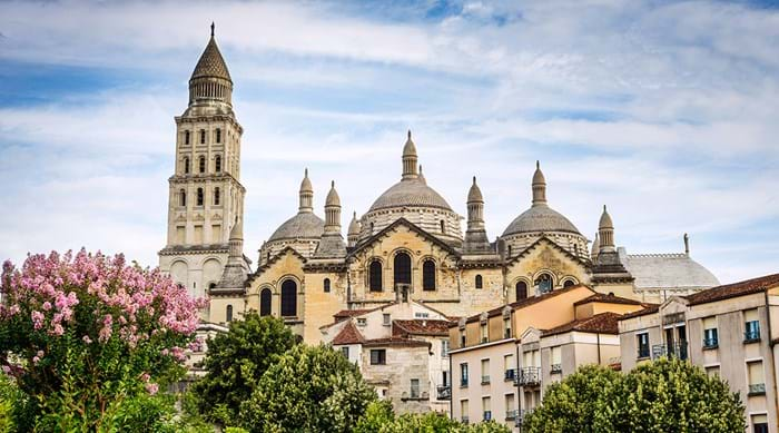 The iconic domes of the Périgueux cathedral